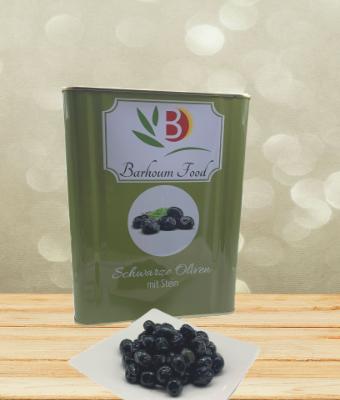 Barhoum Schwarze Oliven mit Stein Kanister 10kg (4XS)