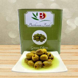 Barhoum gegrillte grüne Oliven ohne Stein 6kg
